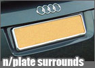 numberplate surrounds